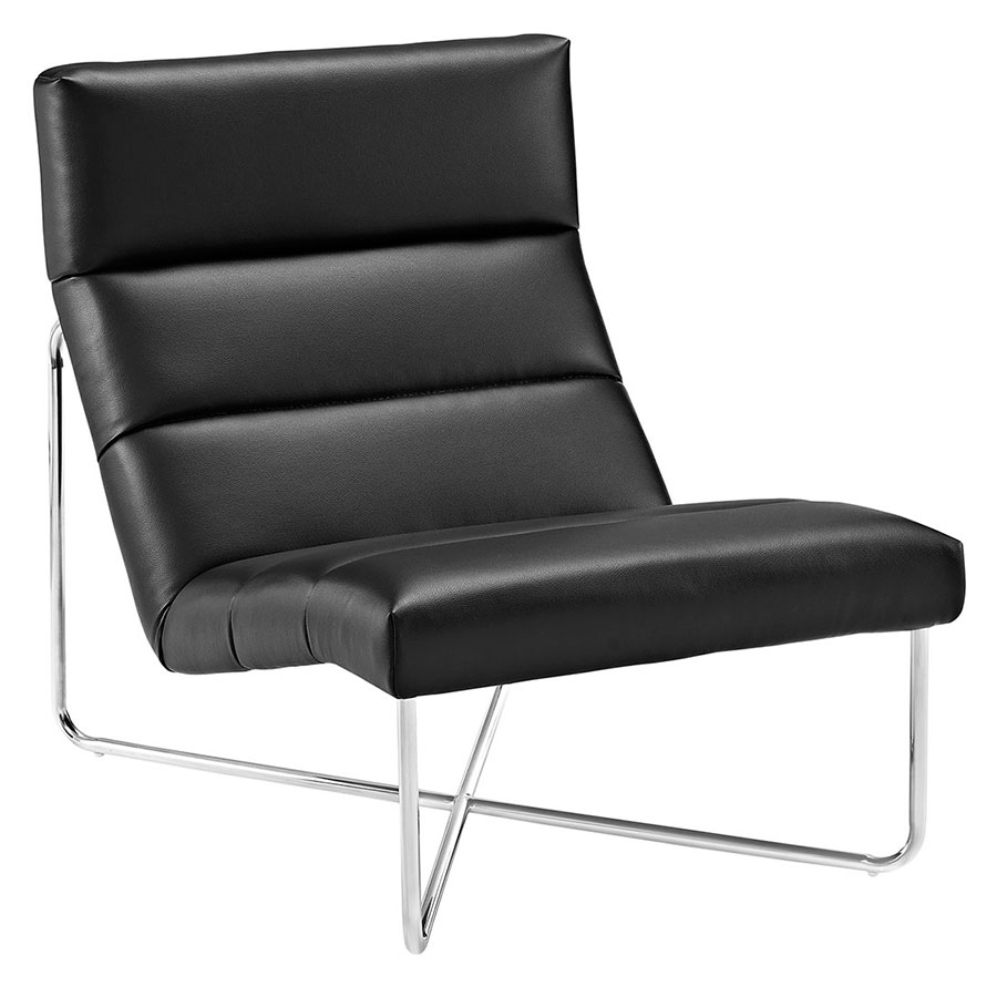 roanoke modern black lounge chair  eurway furniture - roanoke modern black lounge chair