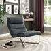 Roanoke Contemporary Gray Lounge Chair