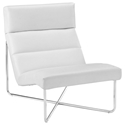 Roanoke Modern White Lounge Chair
