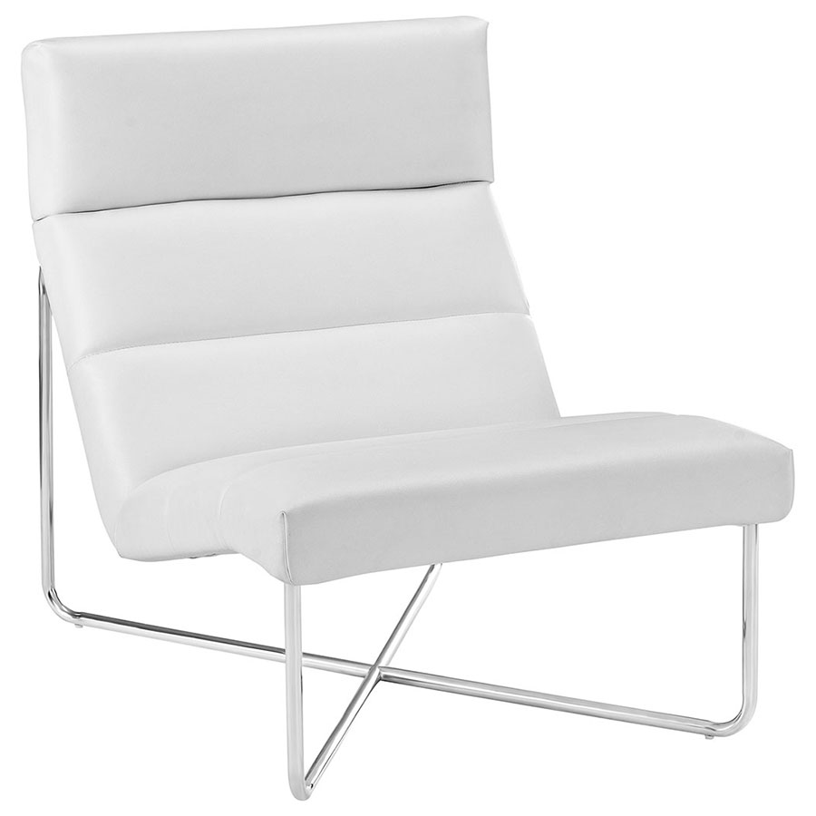 modern white lounge chair. Call To Order · Roanoke Modern White Lounge Chair