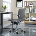 Roanoke Gray + Chrome Mid Back Office Chair