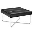 Roanoke Modern Black Ottoman