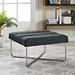 Roanoke Contemporary Gray Ottoman