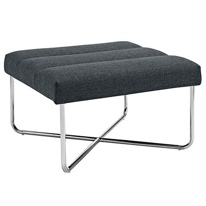 Roanoke Modern Gray Ottoman