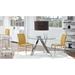 Robin Chrome + Frosted Glass Rolling Bar Cart
