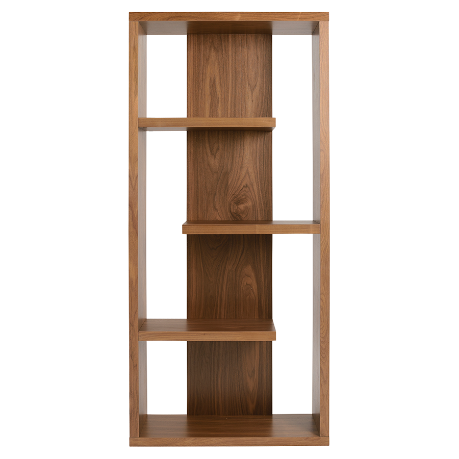 robyn walnut contemporary shelving unit . modern shelves  robyn walnut shelving unit  eurway