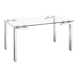 Roca Modern Glass Top Dining Table