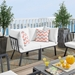 Rochester Contemporary Outdoor Slate + White Loveseat