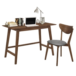 Rockford Contemporary Walnut Desk + Chair Set