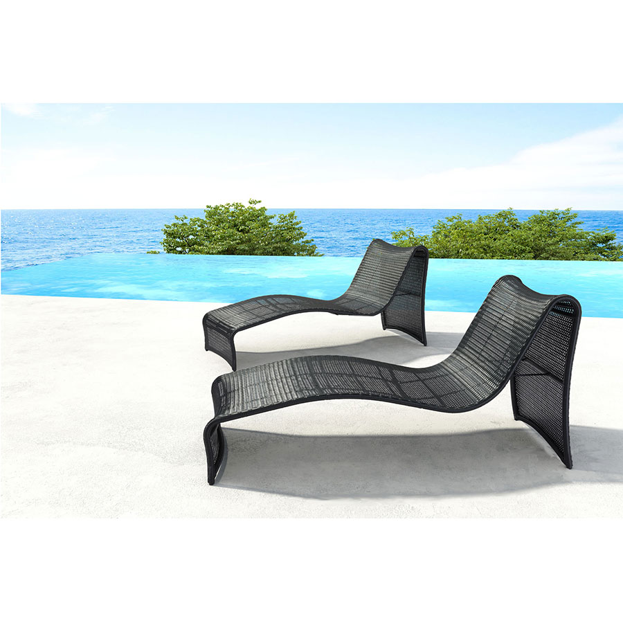 Rococo Modern Outdoor Chaise Lounge