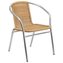 Rome Beige Modern Indoor/Outdoor Dining Chair