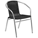 Rome Modern Black Indoor/Outdoor Dining Chair