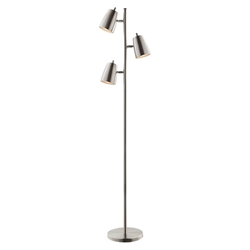 Ronald Modern Brushed Nickel Floor Lamp