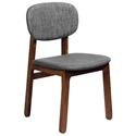 Ronde Modern Walnut + Grey Dining Chair