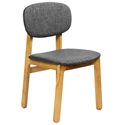Ronde Modern White Oak + Grey Dining Chair
