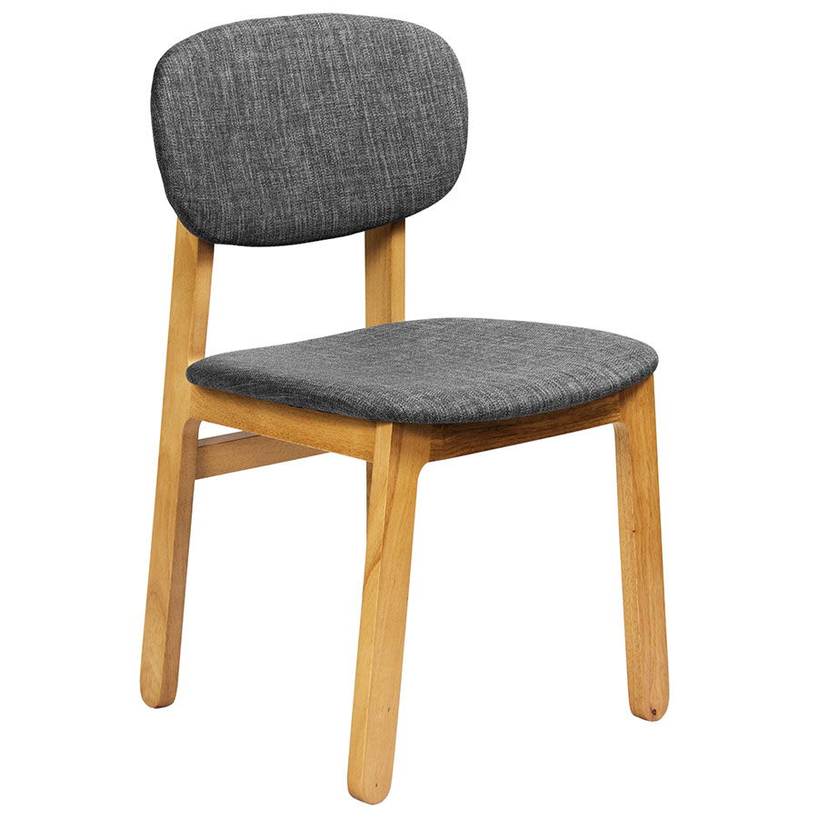 Ronde modern white oak dining chair eurway furniture for Contemporary oak dining chairs