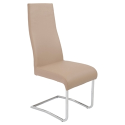 Rooney Latte-Colored High Back Modern Dining Side Chair