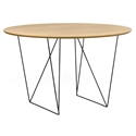 Row Oak + Black 47 in. Dining Table by TemaHome