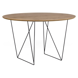 Row Walnut + Black 47 in. Dining Table by TemaHome