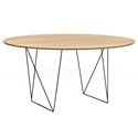 Row Oak + Black 59 in. Dining Table by TemaHome
