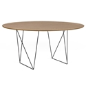 Row Walnut + Black 59 in. Dining Table by TemaHome