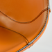 Rudy Cognac Leather Modern Stool Detail