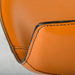 Rudy Cognac Leather + Chrome Contemporary Adjustable Stool Detail
