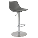 Rudy Modern Adjustable Stool in Gray