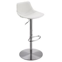 Rudy Modern Adjustable Stool in White by Euro Style