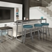 Rudy Modern Counter Stools by Amisco - Magnetite + Sky