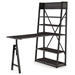 Rupert Modern Adj. Desk + Shelf by Amisco