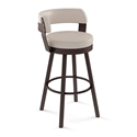 Russell Modern Counter Stool by Amisco in Black Coral + Oyster