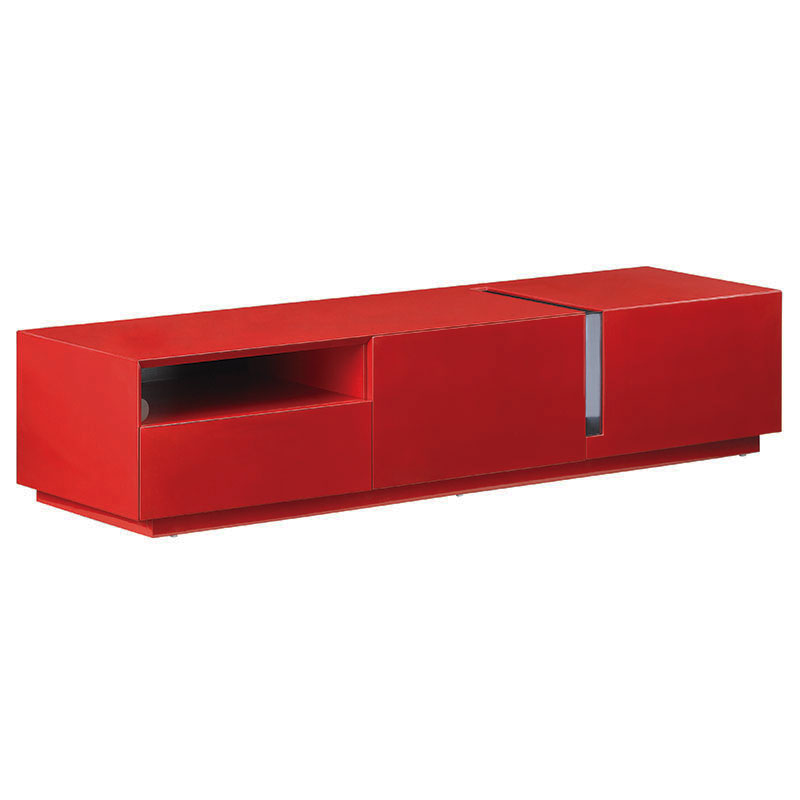 Russell Modern Red Tv Stand