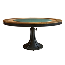 Rustic Industrial Style Poker Table