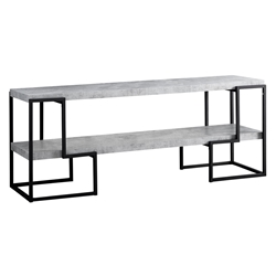 Ryan Modern Cement + Black TV Stand
