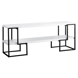 Ryan Modern White + Black TV Stand