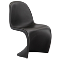 S-Shaped Black Classic Modern Dining Chair