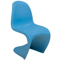S-Shaped Blue Classic Modern Side Chair