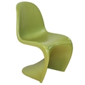 S-Shaped Green Orange Classic Modern Side Chair