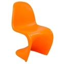 S-Shaped Matte Orange Classic Modern Side Chair