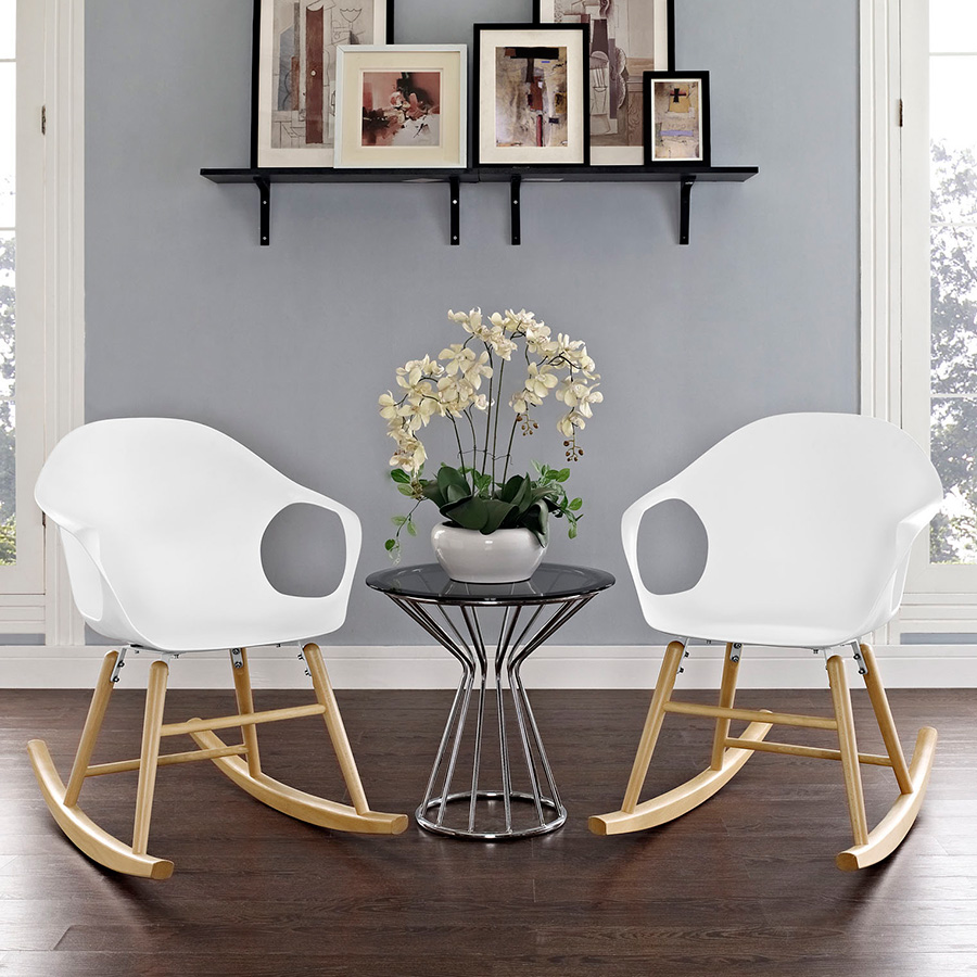 Sacramento Modern White Rocking Chairs