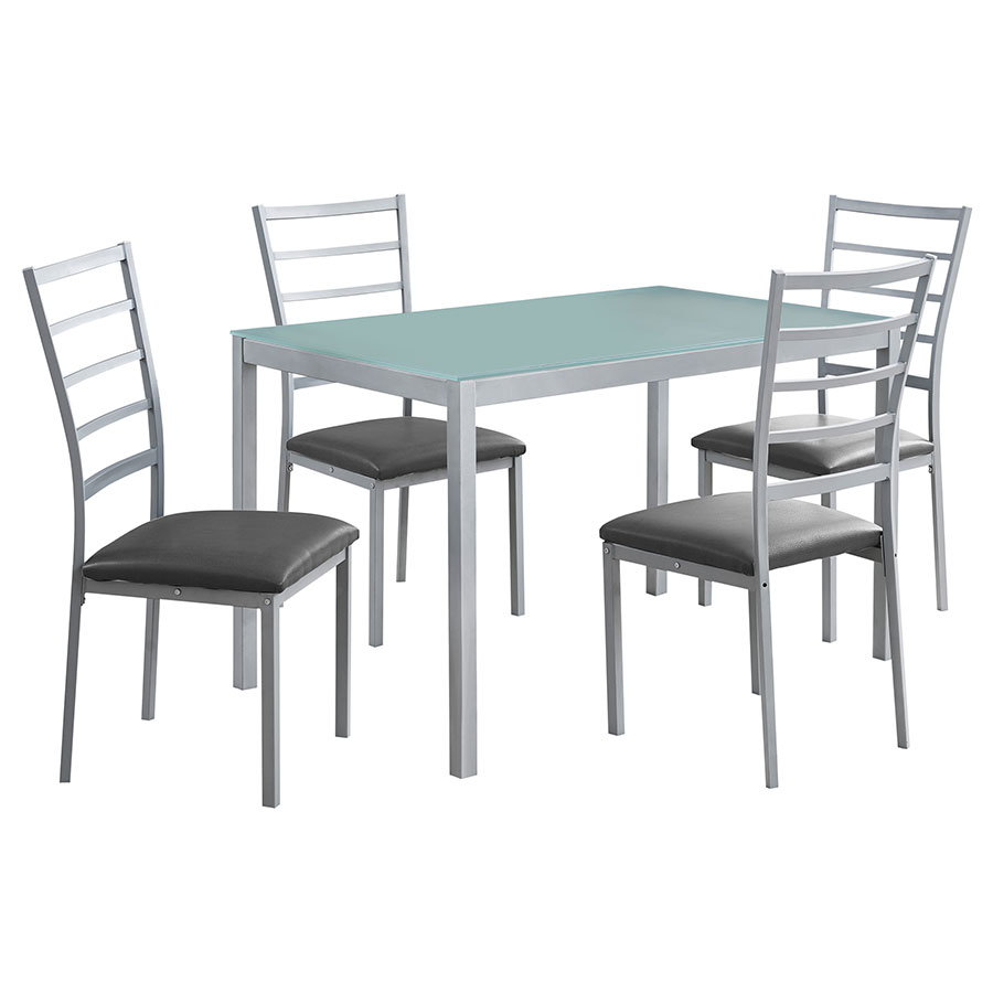 Sadler Modern Dining Table + Chairs Set