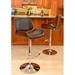 Saga Brown + Cherry Adjustable Modern Bar Stool