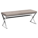 Savannah Taupe Contemporary Dining Bench