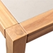 Salerno Modern Outdoor Acacia Wood Dining Table - Corner Detail