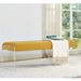 Salford Yellow + Clear Acrylic Contemporary Bench