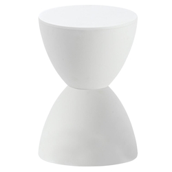 Sallie Modern Stool + Accent Table in White