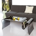 Salima Modern White Accent Table + Stool