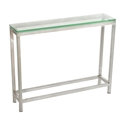 Salina Modern Stainless + Glass Small Console Table