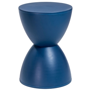 Sallie Modern Stool + Accent Table in Navy